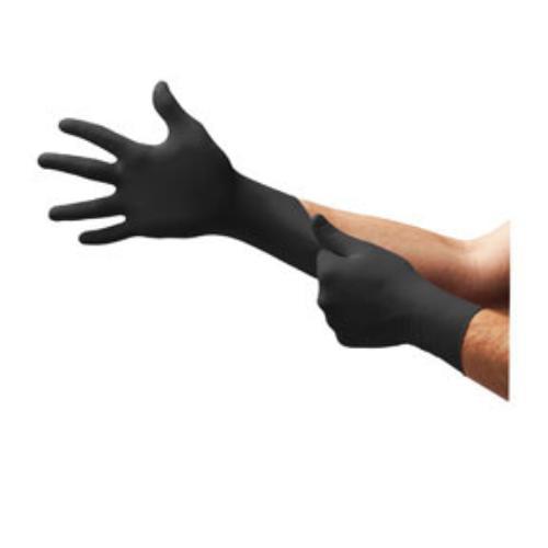 Microflex MK296S Midknight Black Nitrile Powder Free Gloves Small