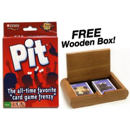 Pit   The All Time Favorite   Card Game Frenzy    Plus Free Wooden Box