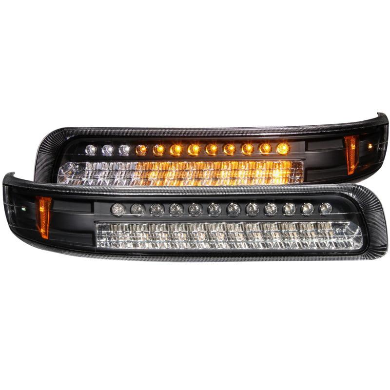 ANZO USA 511055 99-02 SILVERADO PARKING LIGHTS LED BLACK
