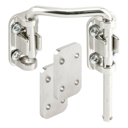 Sliding Door Loop Lock, 2-1/4 in., Steel, Nickel Plated, Right Hand
