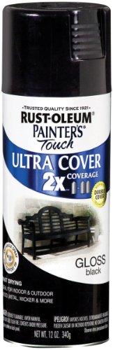 Rust-Oleum 249122 Painters Touch Multi Purpose Spray Paint, 12-Ounce, Black Multi-Colored