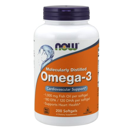 NOW Supplements, Omega-3, Molecularly Distilled, 200