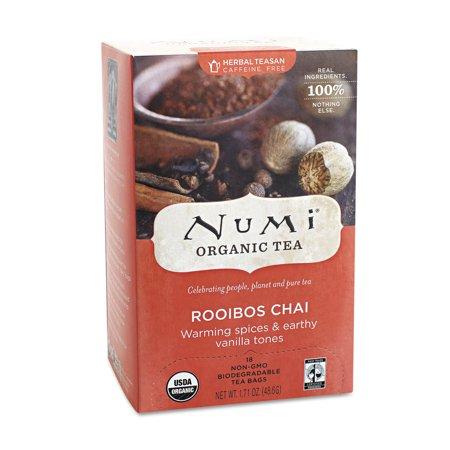 Numi caféine bio Sacs libre de thé Rooibos Chai - 18 CT
