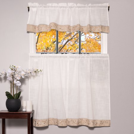 Oakwood Linen Style Kitchen Window Curtain 58\