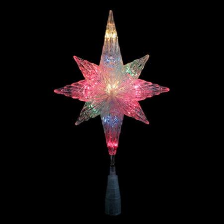 Northlight 11 in. Multicolor Lighted Star of Bethlehem Tree Topper