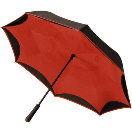 BetterBrella, Reverse Open Close Umbrella, Wind Proof Design (Black/Red) - As Seen on TV - Black Lace Umbrella
