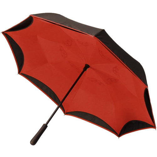 BetterBrella, Reverse Open Close Umbrella, Wind Proof Design (Black/Red) - As Seen on TV