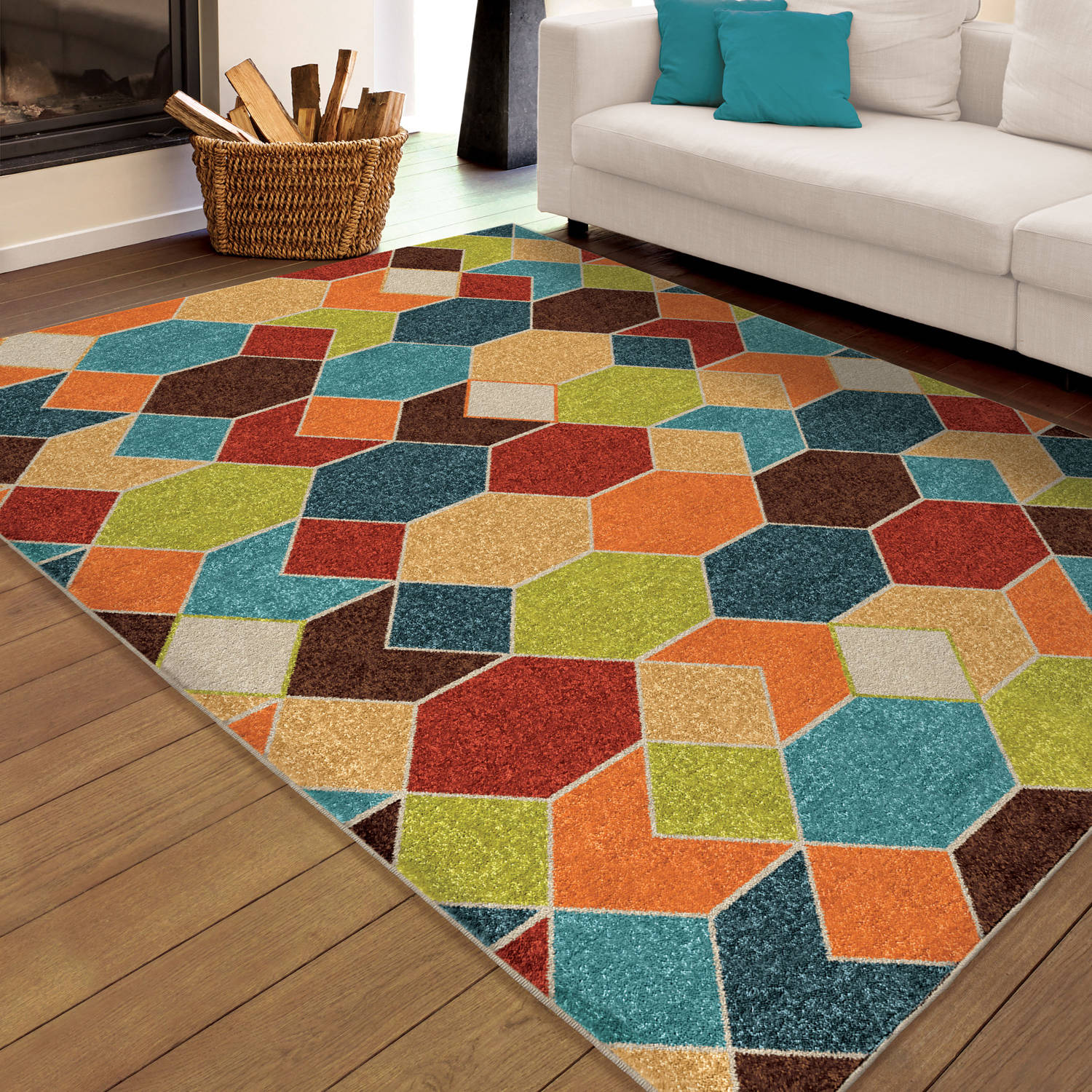 Orian Rugs Indoor Outdoor Bright Spectacle Multi Colored