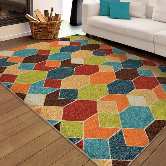 Bright Outdoor Area Rugs: Orian Rugs Indoor/Outdoor Bright Spectacle Multi-Colored