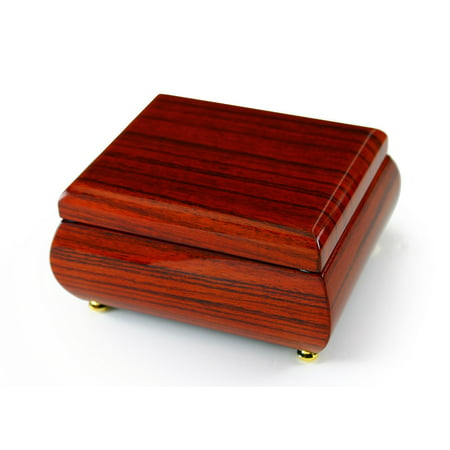 Astonishing Hi Gloss Wood Tone Petite Music Box - Born Free -