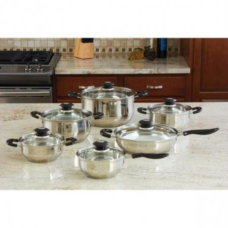 Wyndham House™ By Justin Wilson™ 12pc Stainless Steel Cookware Set - KTS123