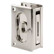"Prime-Line N 7367 Pocket Door Privacy Lock with Pull - Replace Old or Damaged Pocket Door Locks Quickly and Easily – Satin Nickel, 3-3/4"", INCLUDES – (1).., By PrimeLine Products"