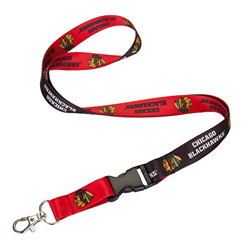 NHL Chicago Blackhawks Lanyard with Detachable Buckle, 3/4""