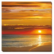Artistic Home Gallery Sunset on the Sea by Dan WernerPhotographic Print on Wrapped Canvas