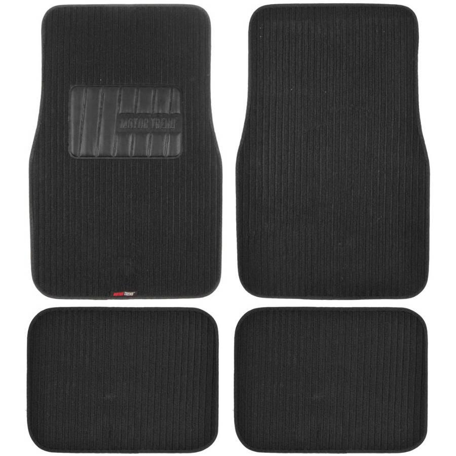 BDK Premium Corrugated Ribbed Carpet Floor Mats, Extra Thick Carpet Cushion, Black