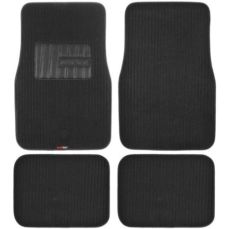 BDK Premium Corrugated Ribbed Carpet Floor Mats, Extra Thick Carpet Cushion, Black
