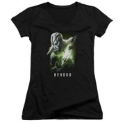 Star Trek Beyond Jaylah Poster Juniors V-Neck Shirt