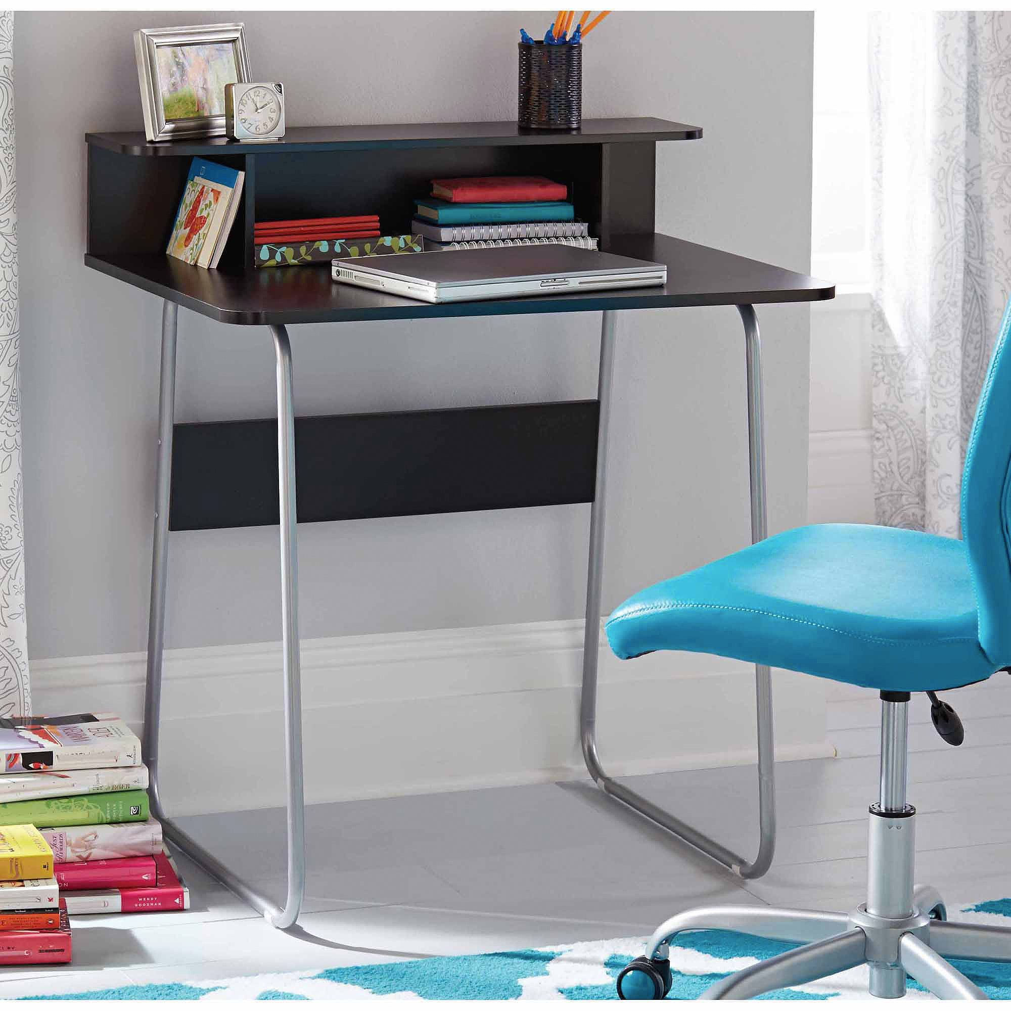 Nice Mainstays Computer Desk With Shelf In Black   Walmart.com
