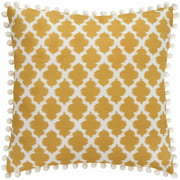 Better Homes and Gardens Tangier Contemporary Ikat Pillow with Decorative Pompoms