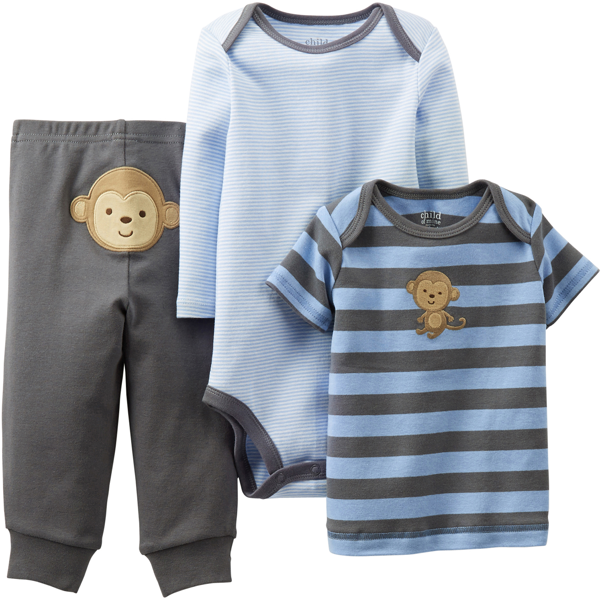 Child of Mine by Carter\'s Newborn Boy Cotton Outfit 3-Piece Set ...