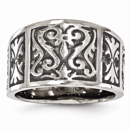 Edward Mirell Jewelry Collection Titanium Flat Casted Brushed and Polished 16mm Wide Ring by Roy Rose Jewelry ~ Size 8