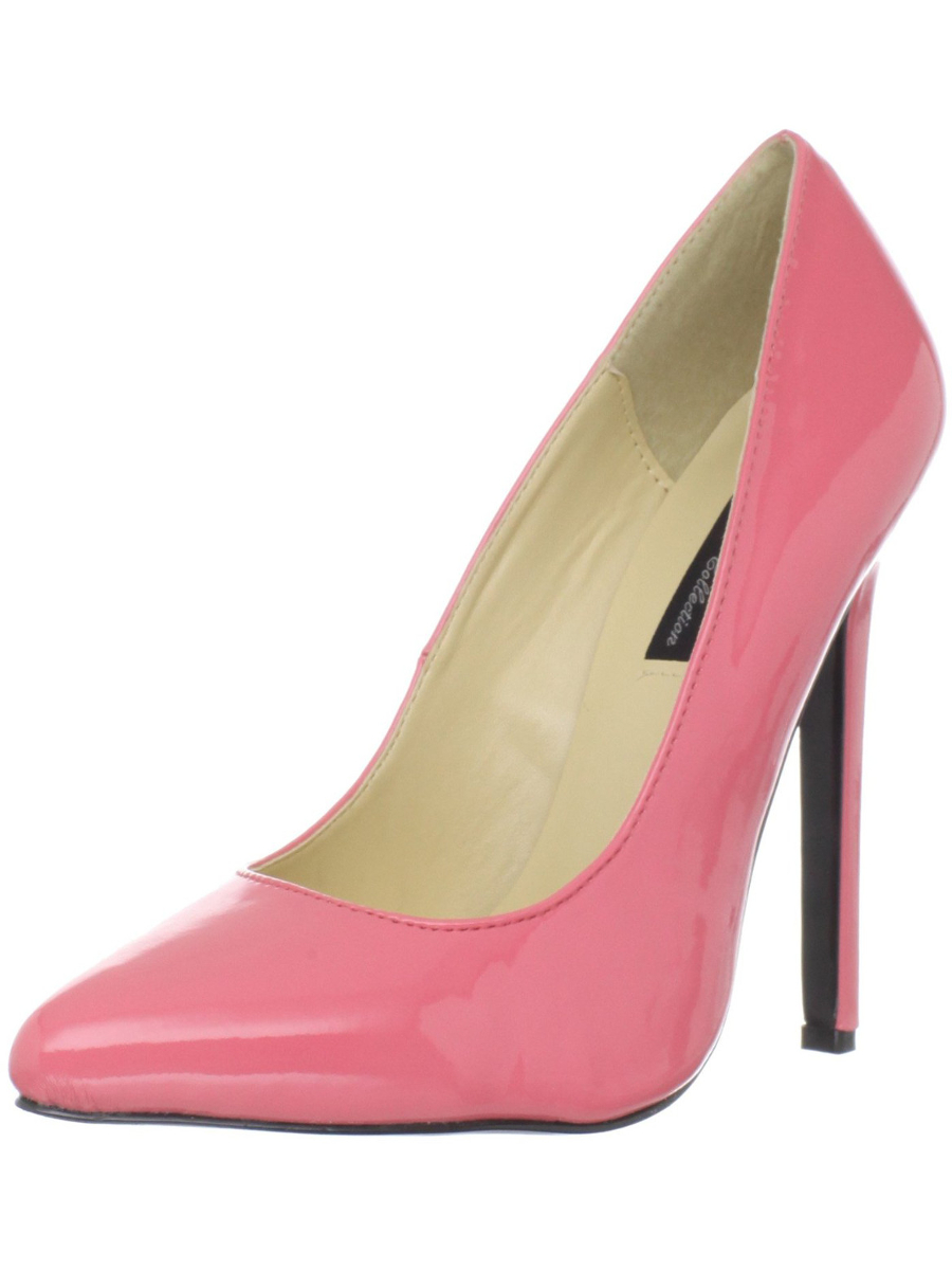 "Women's Highest Heel Shoes 5 1/4"" Heel Pump - Coral Patent"