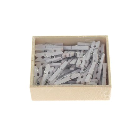 Mini Wooden Clothespins 1 Inch 50 Count White