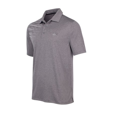 Greg Norman Mens Light Ray Golf Rugby Polo Shirt midhtrgrey S - image 1 of 1