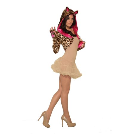 Forum Comfortable Leopard Costume Shrug, Tan Brown Pink, One-Size - Halloween Forum Set Tutorials