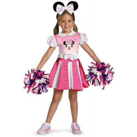 Disguise Disney Mickey Mouse Clubhouse Minnie Mouse Cheerleader Girls Costume (Toddler (3T-4T), Multi) (Adult Mickey And Minnie Costumes)