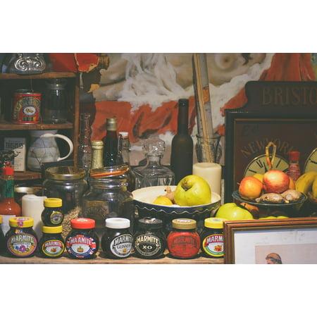 Peel-n-Stick Poster of Jar Bowl Fruit Store Wine Apple Food Jam Bottle  Poster 24x16 Adhesive Sticker Poster Print
