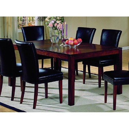 woodbridge home designs 721 series dining table in cherry walmart