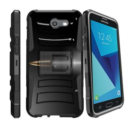 Case for Samsung Galaxy J7 PR0| Case for SKY PRO | J7 2017 Case  [ Clip Armor ] Heavy Duty Case with Belt Clip & Kickstand FireArm