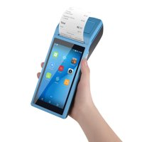 All in One Handheld PDA Printer Smart POS Terminal Wireless Portable Printers Intelligent Payment Terminal Function BT/ WiFi/ USB OTG/ 3G Communication