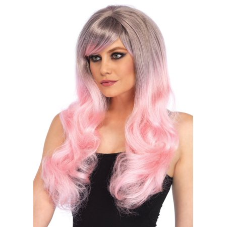 Blended two-tone pastel long wavy wig - Teal Wig