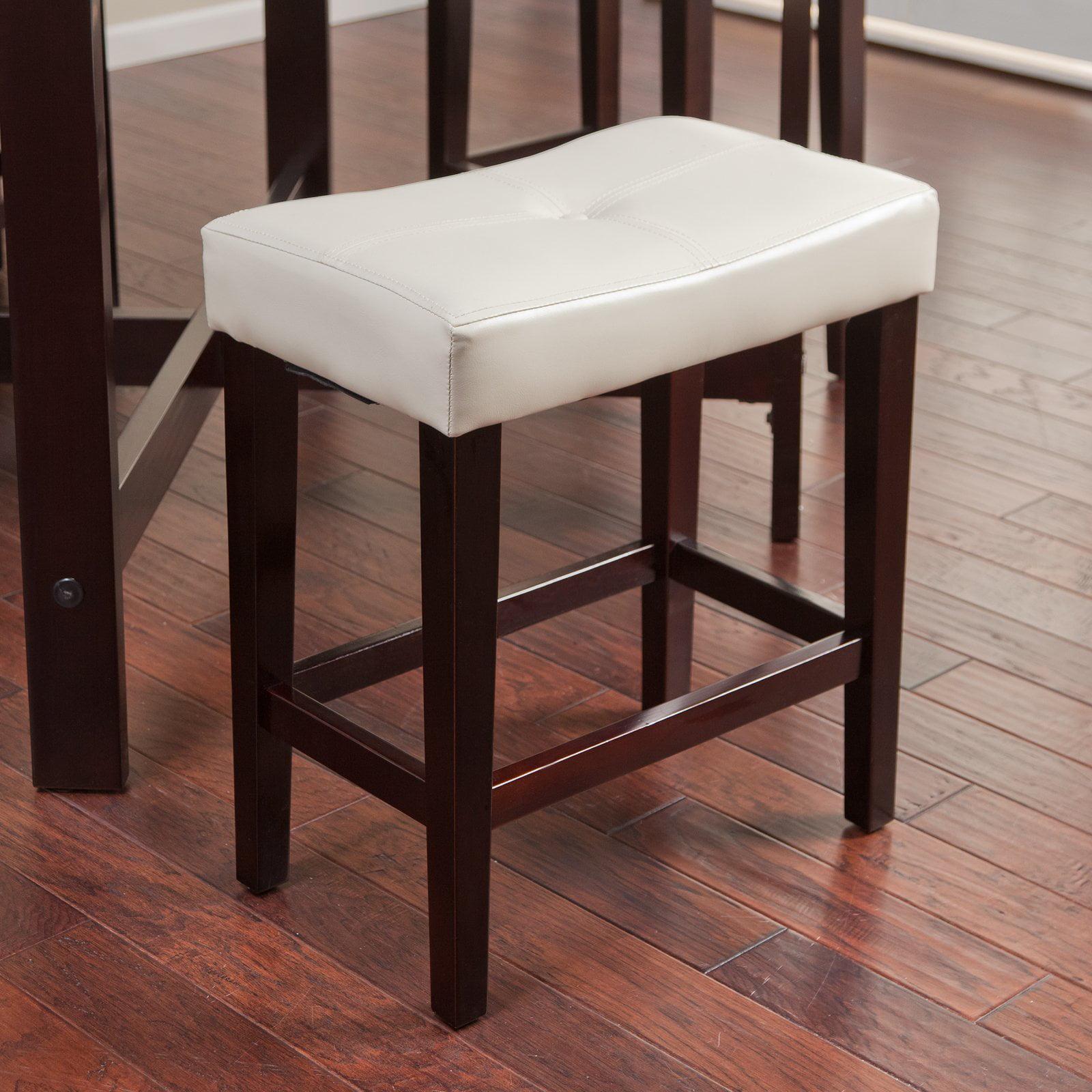 Avorio 26 Inch Saddle Counter Stool Ivory Walmartcom
