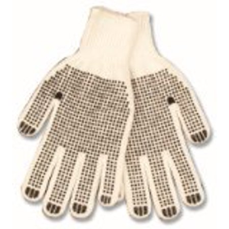 KINCO 1777-XL Men's Polyester/Cotton Blend String Knit Glove with PVC Dots, X-Large, Neutral