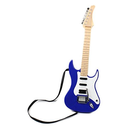 Hot Rock 22   Childrens Battery Operated Toy Guitar  Plays 4 Different Rock Rhythms  Integrated Auto Play Demo Mode  Working Whammy Tremolo Bar  Colors May Vary