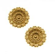 Nunn Design Solid Brass Stamping Medium Marigold Flower Embellishment 16mm (2)