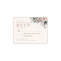Personalized Wedding RSVP - Boho Bouquet - 4.25 x 5.5 Flat