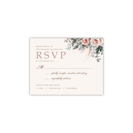 Personalized Wedding RSVP - Boho Bouquet - 4.25 x 5.5 - Boho Weddings