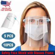 Face Shield with Glasses Frames (10pcs per pack) Anti Fog and Safety [SameDay Free Shipping]