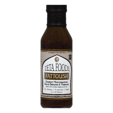 Teta Foods Fattoush Gourmet Mediterranean Salad Dressing & Marinade, 12 OZ (Pack of
