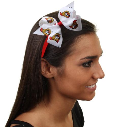 Ottawa Senators Womens Wrapped Headband with Bow - No Size
