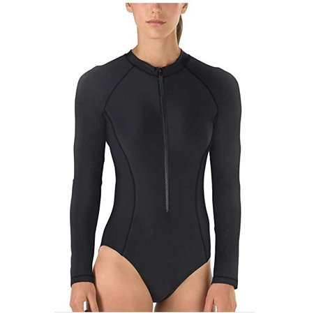 Speedo Women's Size Large PowerFlex Eco Long Sleeve One Piece Swimsuit, Speedo (Eco Friendly Swimwear)