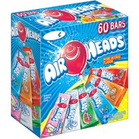 Airheads Chewy Fruit Candy Bars Variety Pack (60 Bars)