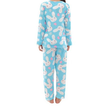JIMSHOP Women Bunny Print Pajamas Set Long Sleeve Top + Long Pants Sleepwear](Bunny Onesie For Women)