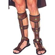 Morris Costumes Mens Leather Renaissance Gladiator Sandals One Size, Style FM60292