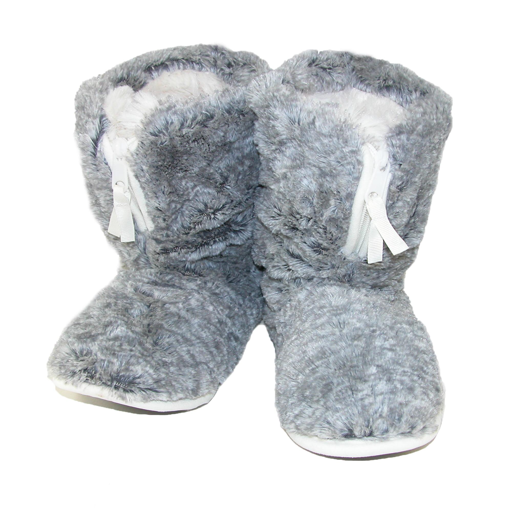 Dearfoams  Women's Pile Boot Slipper with Zipper and Memory Foam