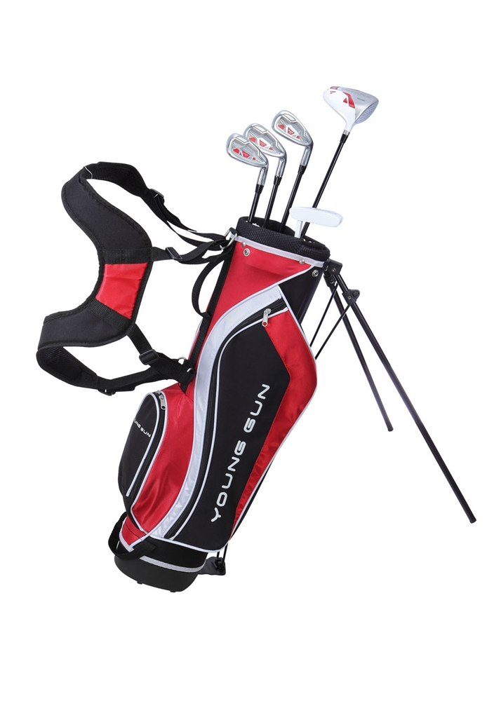 Young Gun SGS V2 Junior golf club Youth Set & bag for kids Red 9-11 by